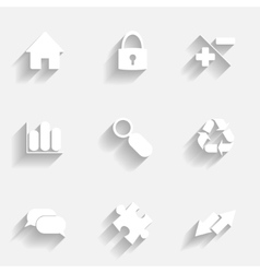 Icons set gray vector image