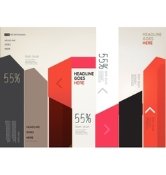 Modern infographic elements on light background vector image