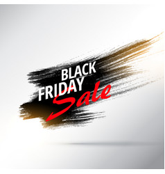 Paint stroke background for black friday sale vector