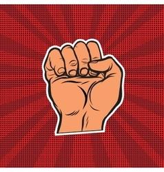 Pop art retro fist vector image