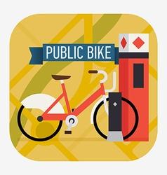 Public bike icon vector
