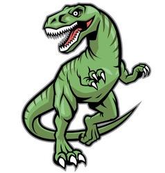 Raptor dinosaur mascot vector