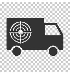 Shooting gallery truck eps icon vector