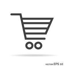 Shopping cart outline icon black color vector