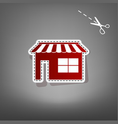 Store sign red icon with for vector