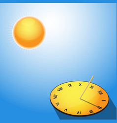 Sun and sundial vector image vector image
