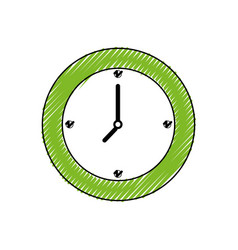 Wall clock symbol vector