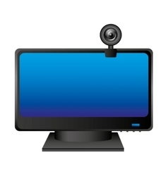 Web cam computer device vector