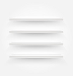 White empty shelves template for a content vector