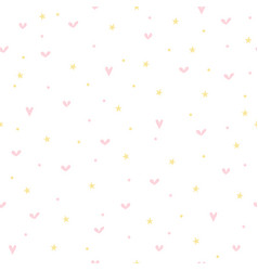 Cute seamless pattern for children with hearts vector