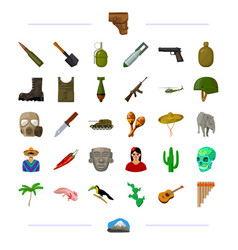 Weapon war defense and other web icon in black vector