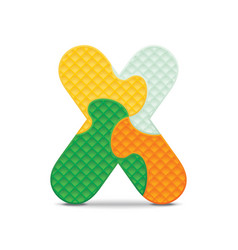 Letter x written with alphabet puzzle vector