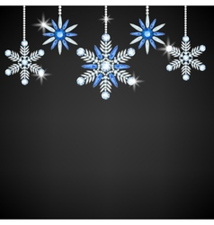 Diamond snowflake vector