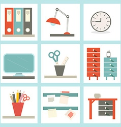 Office supply flat design vector