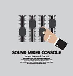 Hand With Sound Mixer Console vector image