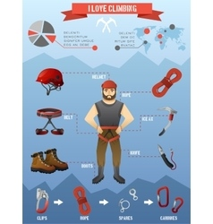 Mountains climbing infographics poster vector