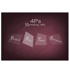 4ps marketing mix diagram with price product pro vector