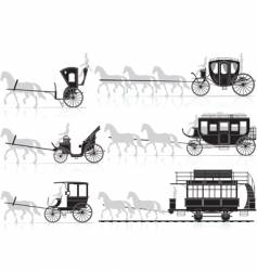 horse and carriage vector image