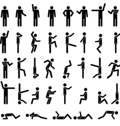 people in different poses vector image