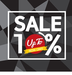 Sale up to 10 percent banner vector