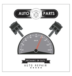 Mileage icon auto part design graphic vector