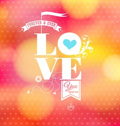Abstract romantic card Soft blurry background vector image