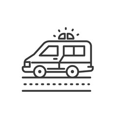 ambulance - line design single isolated icon vector image vector image
