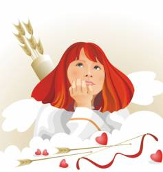 angel cupid vector image vector image