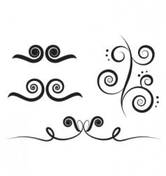 art swirl vector image