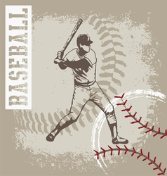 Batter base ball vector
