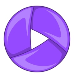 Color camera shutter icon cartoon style vector