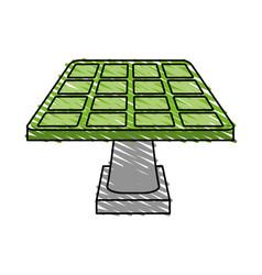 color crayon stripe cartoon solar energy panel on vector image vector image