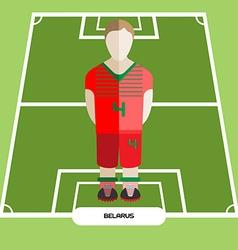 Computer game belarus football club player vector