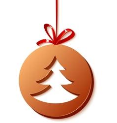 Cristmas chocolate ball with tree vector image