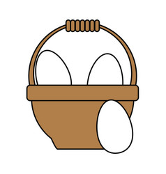 Egg basket vector