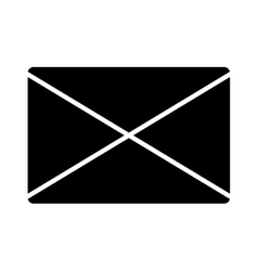 Email black isolated icon over white background vector