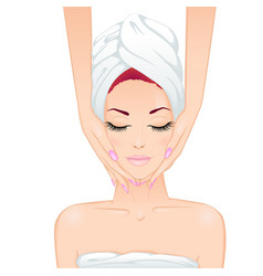 face massage vector image vector image