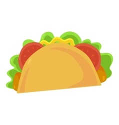 Fast food taco icon vector