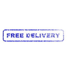 Free delivery rubber stamp vector