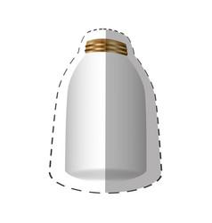 glass jar with metal cap vector image