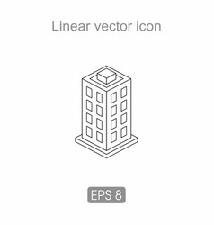 Icon of an apartment building vector