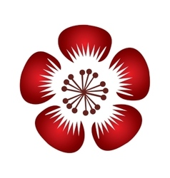 Isolated traditional flower vector image