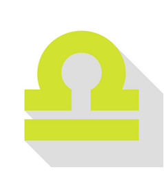 Libra sign pear icon with flat style vector