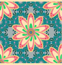 Mandala style rich ethnic striped seamless vector