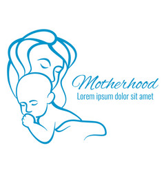 Mom and baby portrait mothers care and love vector