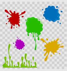 Paint drop abstract multicolor vector