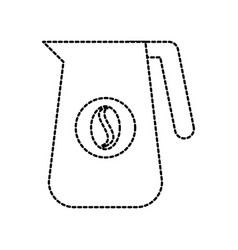Plastic pitcher with handle coffee beverage bean vector