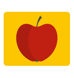 red apple icon isolated vector image