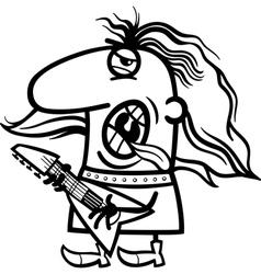 rockman cartoon coloring page vector image vector image