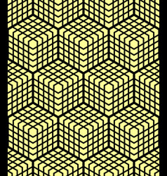 Seamless geometric 3d pattern vector